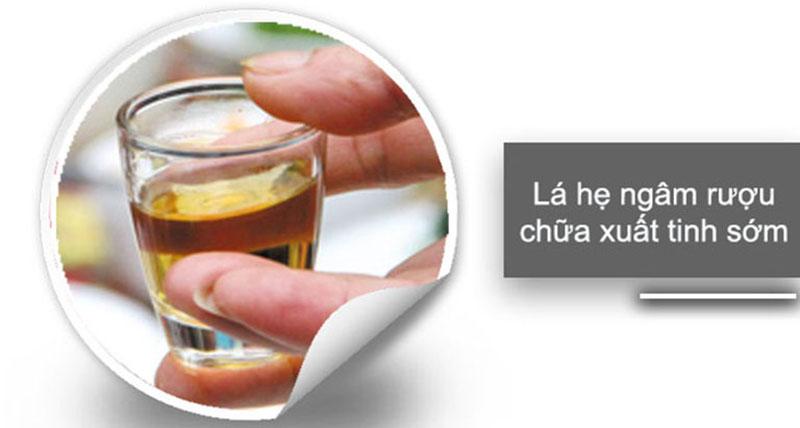 Rượu ngâm lá hẹ là thần dược của quý ông