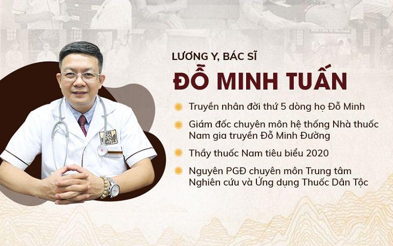 Thông tin lương y, bác sĩ Đỗ Minh Tuấn giám đốc chuyên môn Nhà thuốc Nam gia truyền Đỗ Minh Đường