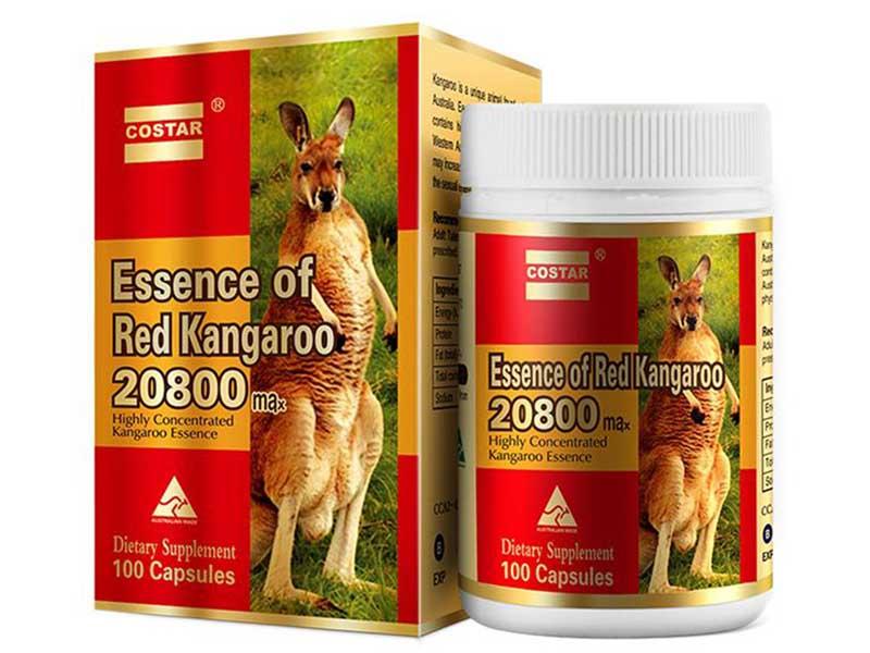 Sản phẩm tăng cường sinh lý nam của Úc Essence of Red Kangaroo có chứa nhiều thành phần quý hiếm