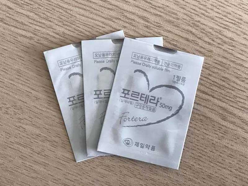 Viagra Fortera được sản xuất ở dạng tem đặt dưới lưỡi