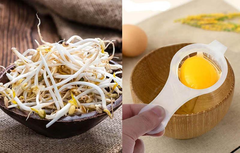 Chữa xuất tinh sớm bằng trứng gà và giá đỗ giúp nhân đôi hiệu quả