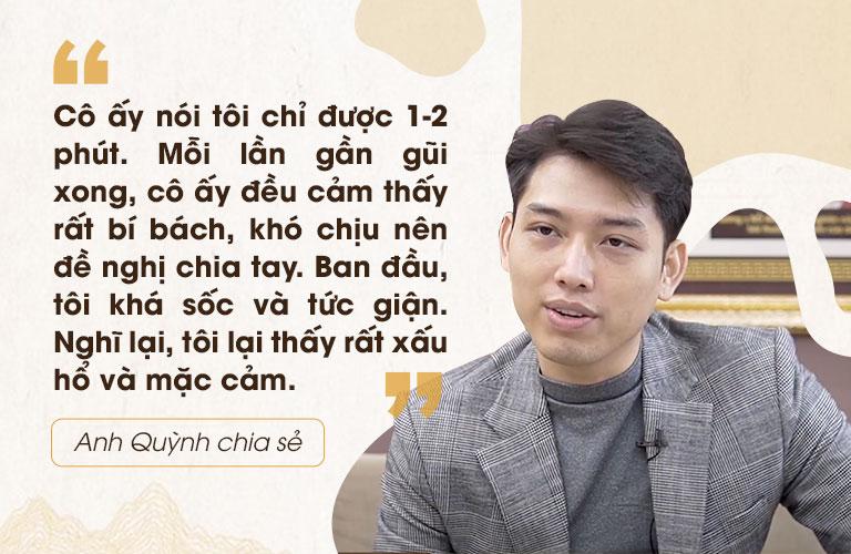 Chia sẻ của anh Quỳnh