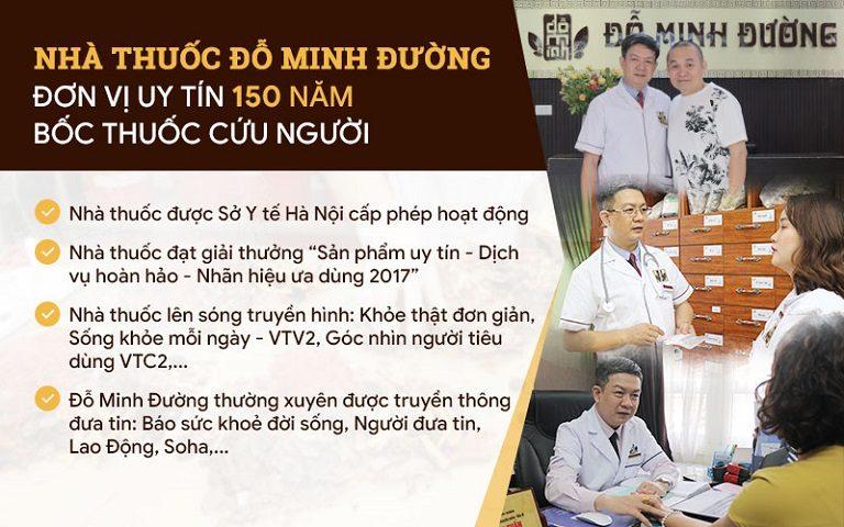 Nhà thuốc Đỗ Minh Đường chữa rối loạn cương dương uy tín